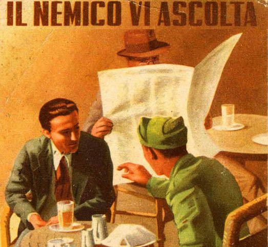 Afiches anti espionaje durante la WW2