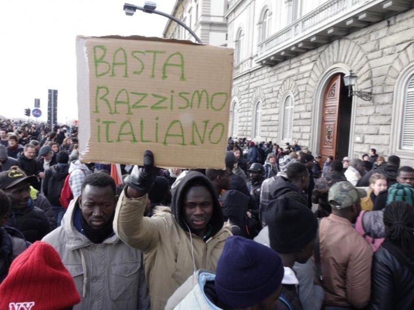 FIRENZE E' ANCORA ANTIRAZZISTA, LA CITTA' MANIFESTA A FIANCO DELLA COMUNITA' SENEGALESE