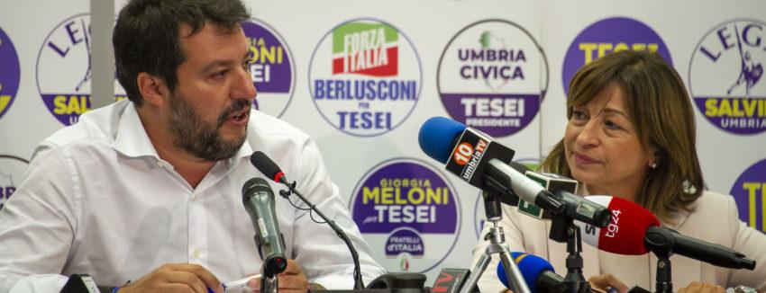 UMBRIA CUORE VERDE D'ITALIA: DEBACLE DEL PATTO CIVICO, STRAVINCE LA DESTRA. DONATELLA TESEI NUOVA GOVERNATRICE, MA IL TRIONFATORE E' SALVINI